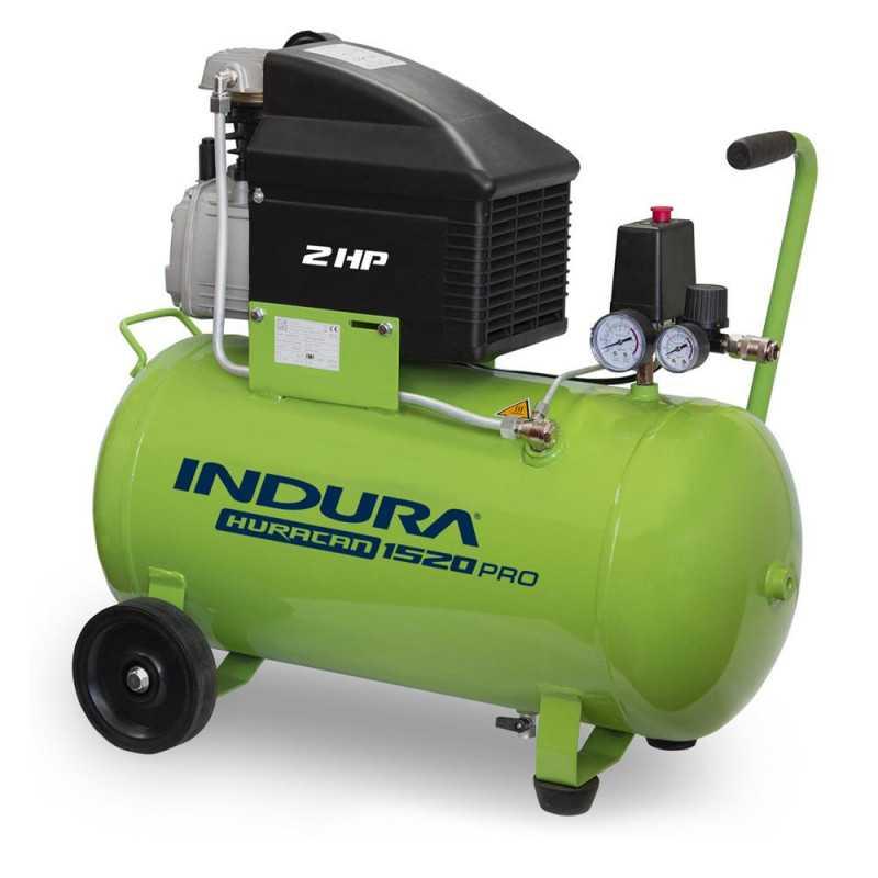 Compresor de aire 2 HP 50 Lts Indura Huracán 1520 PRO C/Kit
