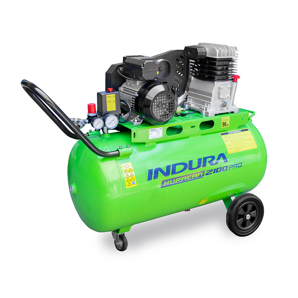 Compresor de aire 2 HP 100Lts Indura Huracán 2100 Pro 220V