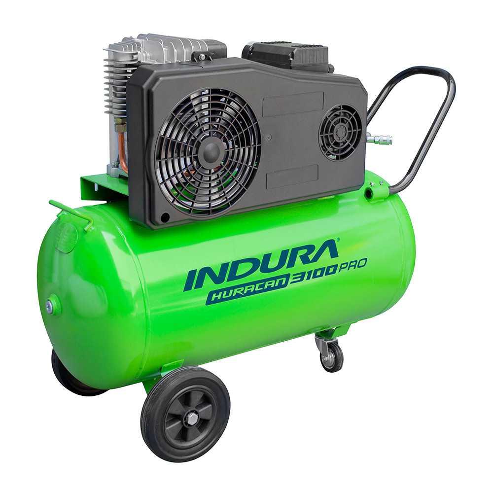 Compresor de Aire 3 HP 100Lts 220V Indura Huracán 3100 PRO
