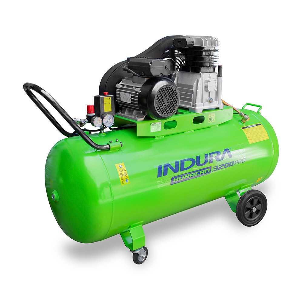 Compresor de aire 3 HP 200Lts 220V Indura Huracán 3200 Pro
