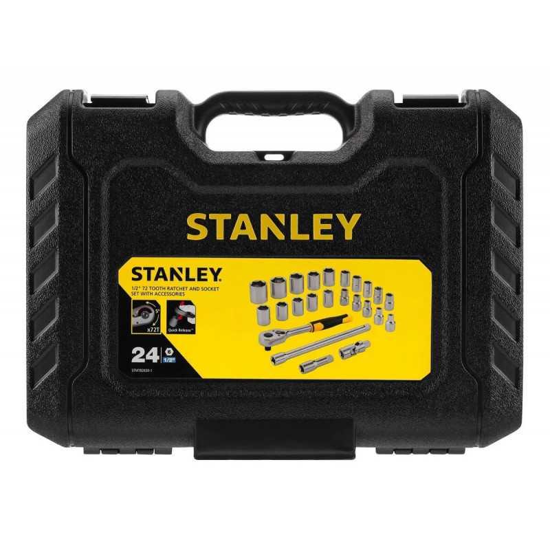 """Juego de Dados 24 Piezas 1/2"""" Stanley STMT82830-1"""