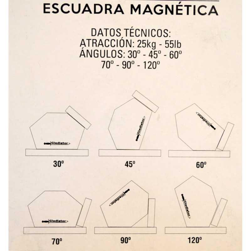 Soldadora Inverter Arco Manual Gladiator 250 Amp IE 8250/6/220 + Kit Escuadras Magnéticas Gladiator MI-GLA-052236_KIT