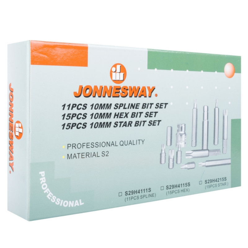 Juego de Puntas Torx 15 Piezas S29H4215S Jonnesway MI-JON-40630