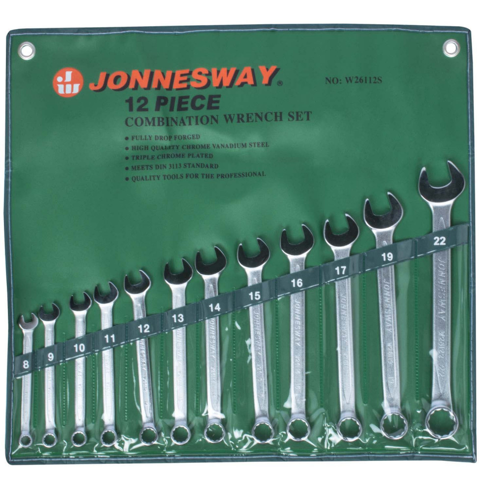 Juego de Llaves Punta Corona 8-22mm 12 Piezas W26112S Jonnesway MI-JON-010614