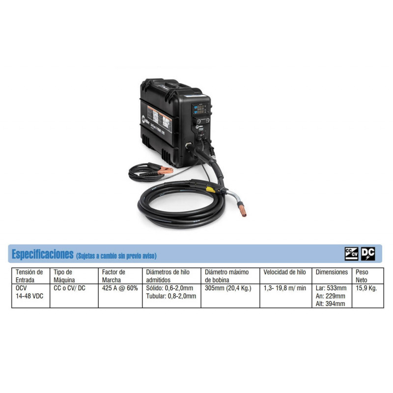 Alimentador con Sensor de Voltaje SuitCase X-TREME 12VS Miller MEP-111505015
