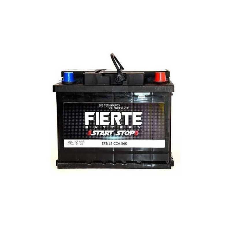 Batería de Auto 70AH Positivo Derecho CCA 640 EFB START STOP Fierte 601248