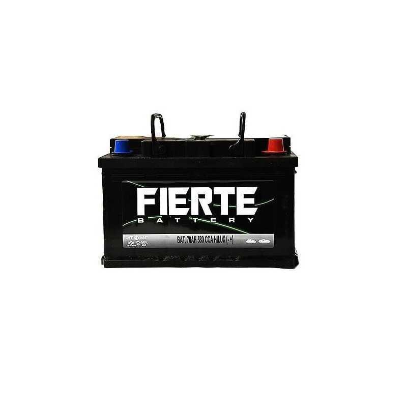 Batería de Auto 70AH Positivo Derecho CCA 580 HILUX Fierte 601237