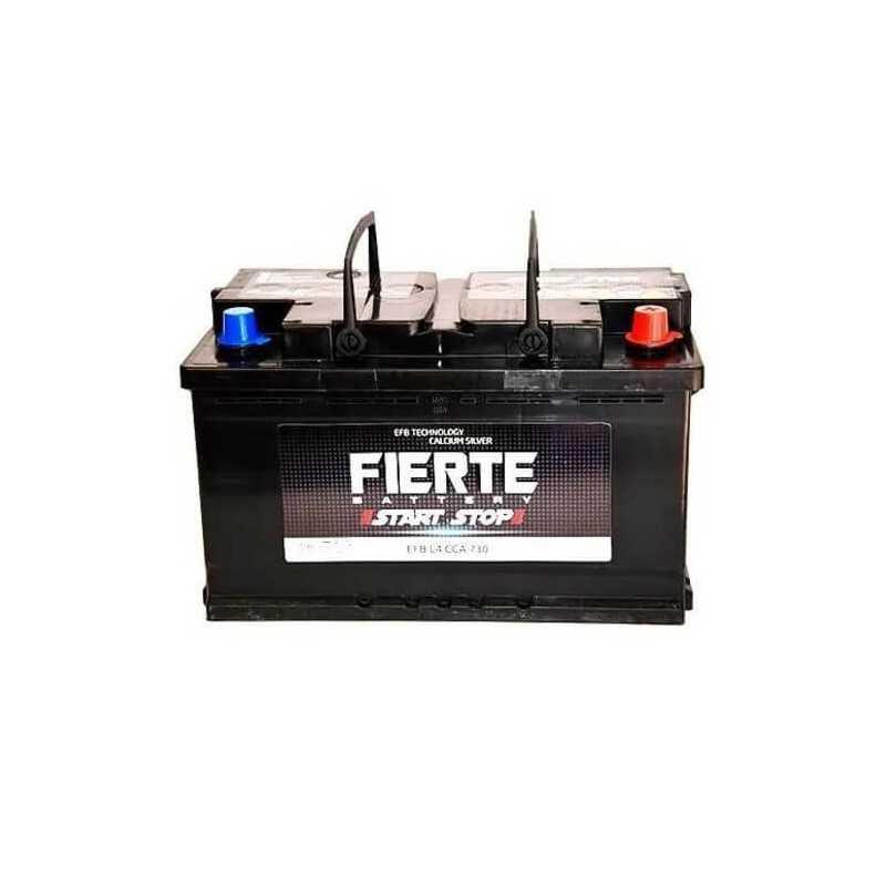 Batería de Auto 80AH Positivo Derecho CCA 730 EFB START STOP L4 Fierte 601249