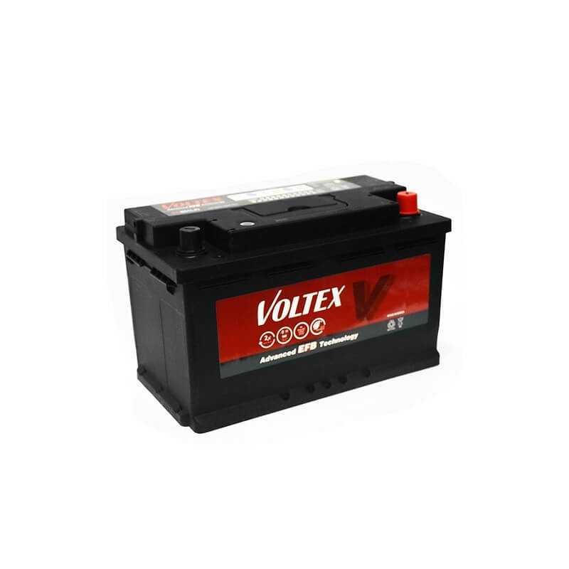 Batería de Auto 80AH Positivo Derecho CCA 730 EFB Start Stop EC80 Voltex 601245