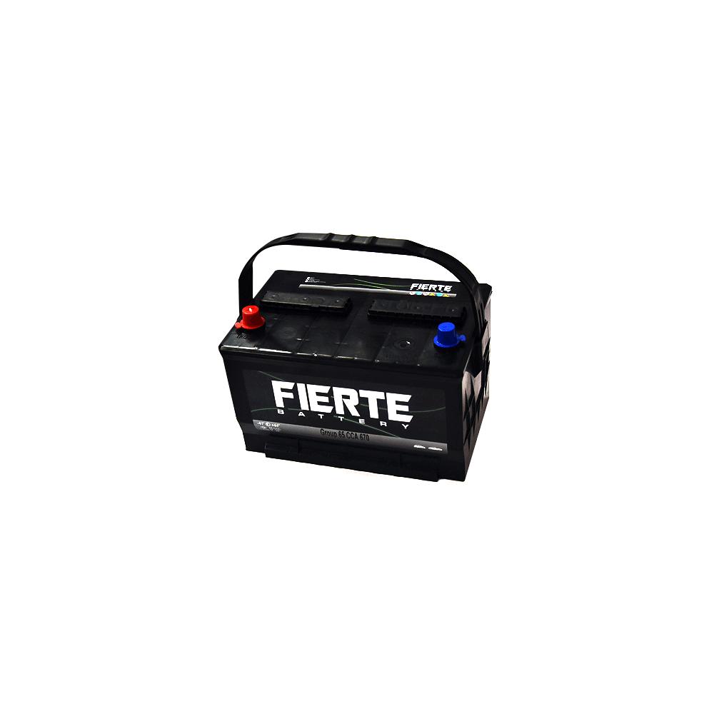 Batería de Auto 90AH Positivo Izquierdo CCA 670 65-670 Terminal Americano Fierte 601239