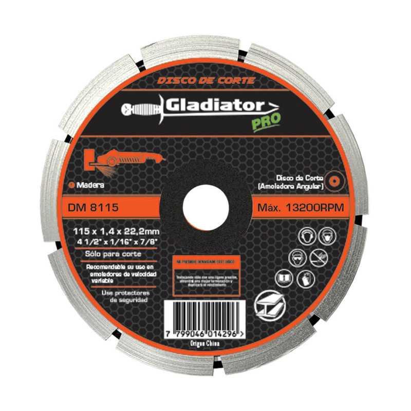 "Disco de Corte Madera 4 1/2"" (115mm) DM 8115 Gladiator MI-GLA-054401"