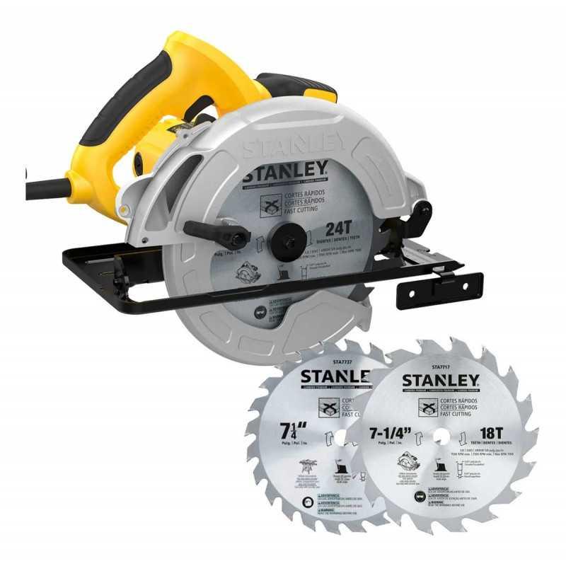 "Sierra Circular 1600W + 2 Disco Sierra 7-1/4"" Stanley SC16D2-B2C"