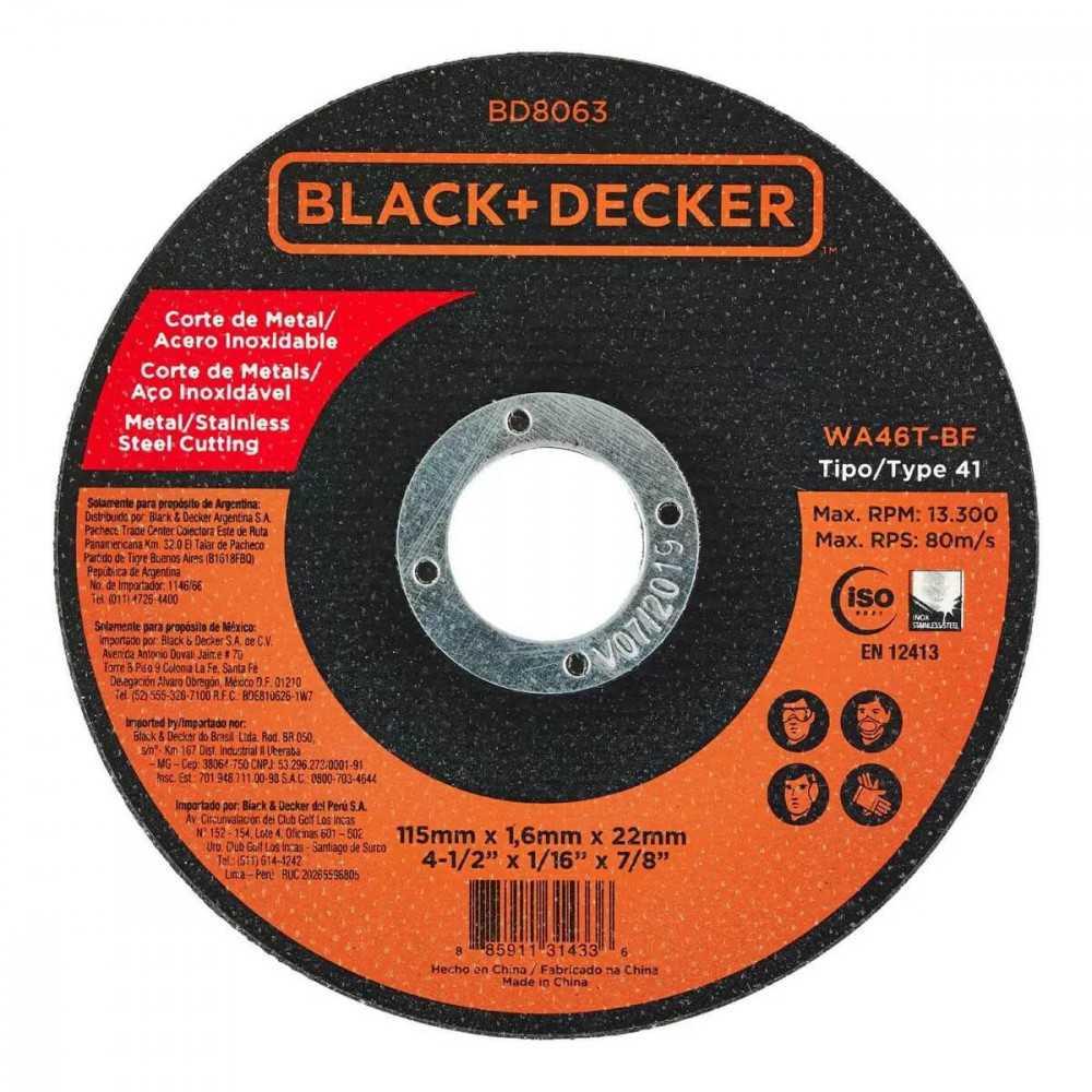 "Esmeril Angular 4-1/2"" 820W + 20 Discos Black&Decker G720-20DISCOS"