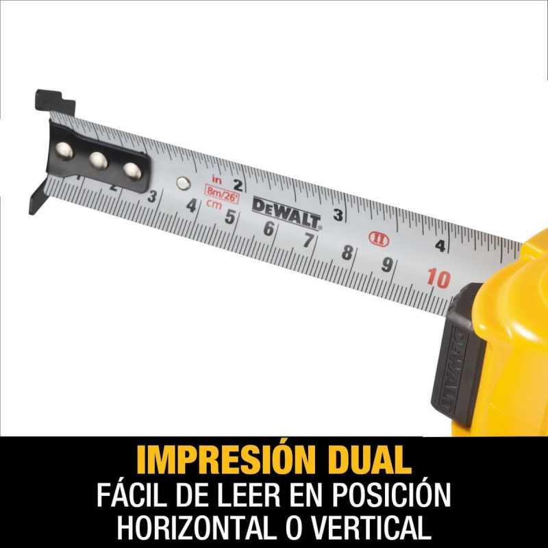 Huincha de Medir 8m/26'x25mm DeWalt DWHT34193L