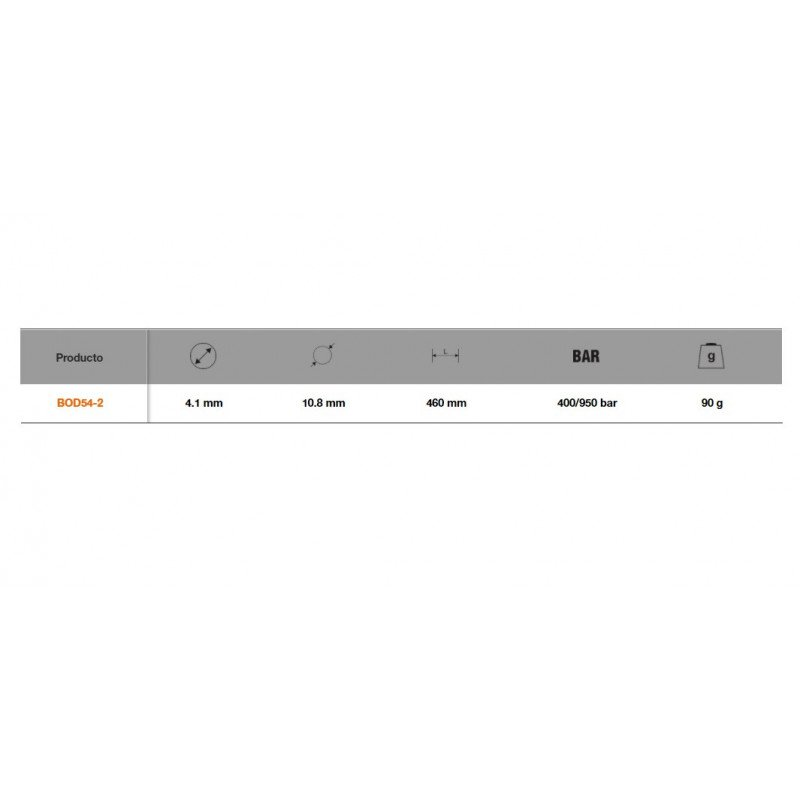 Manguera Flexible de Alta Resistencia 460mm Bahco BOD54-2