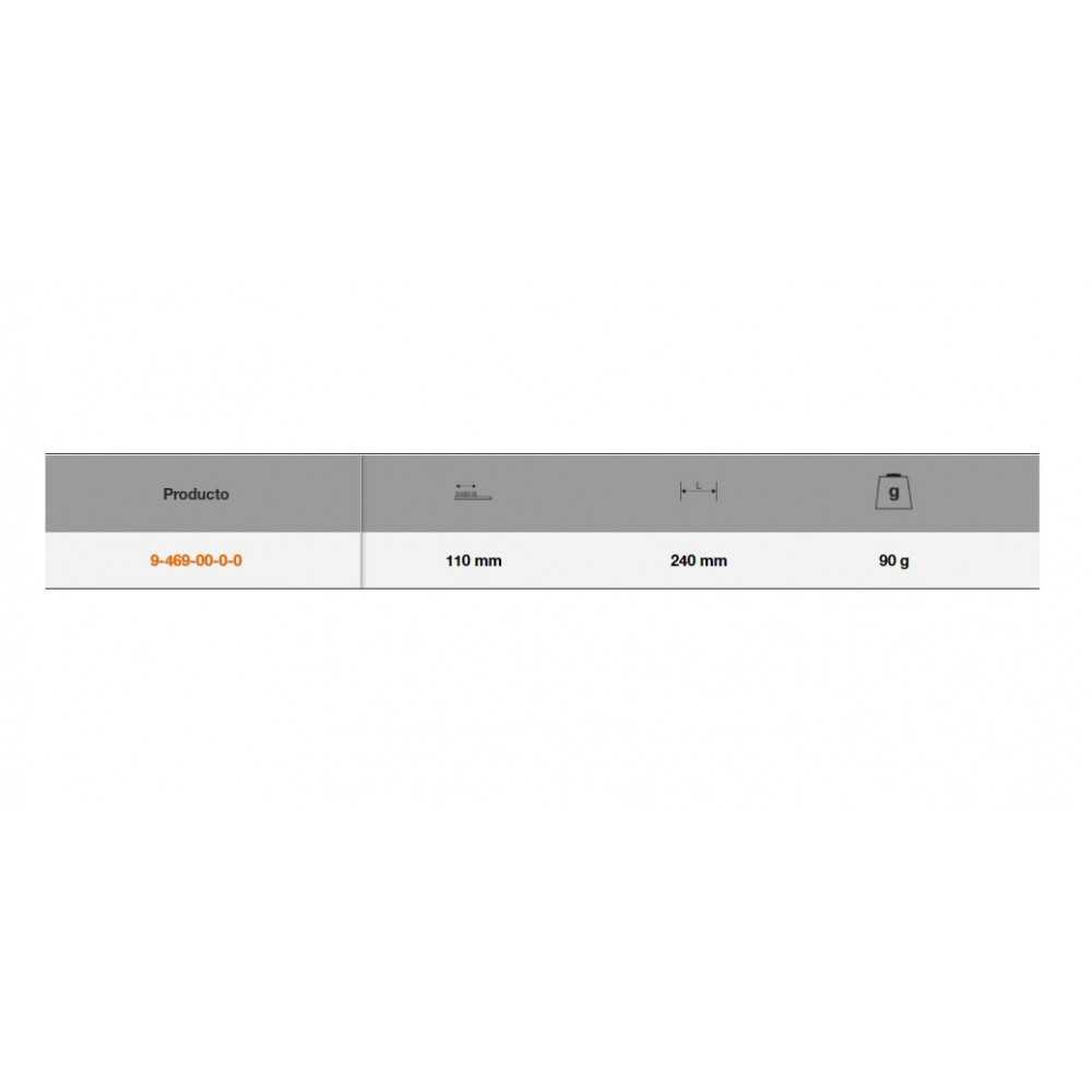 Cepillo para Lima Mango Madera 240mm Bahco 9-469-00-0-0