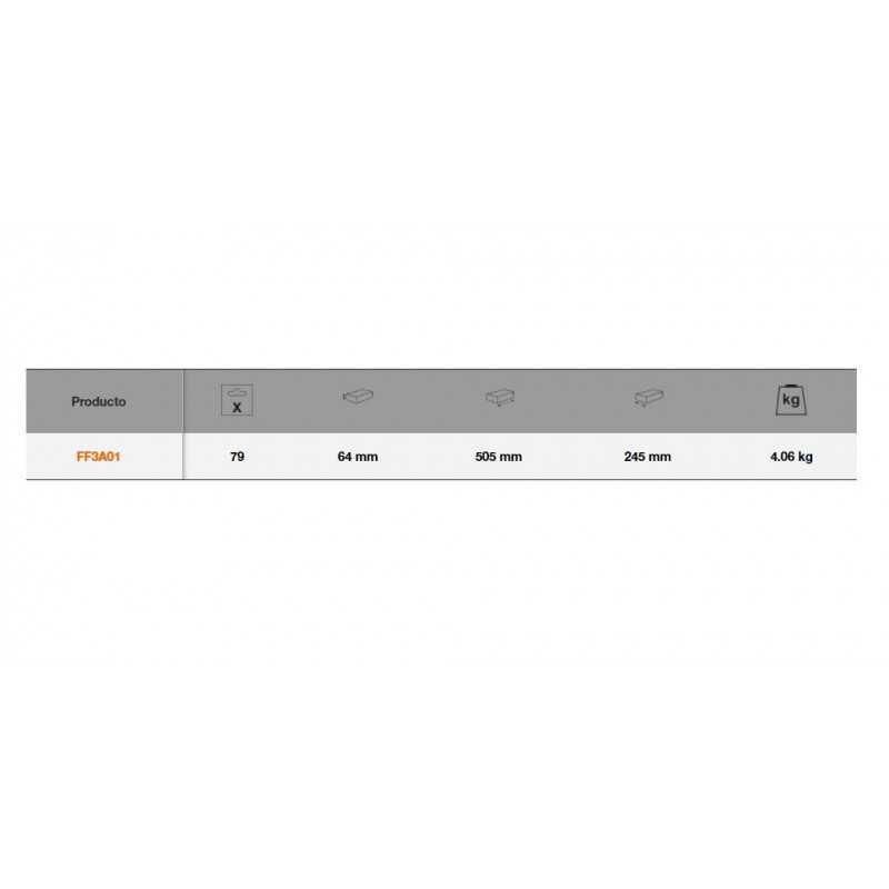 Set de Herramientas 79 Pzs en bandeja de foam para cajas metálicas Bahco FF3A01