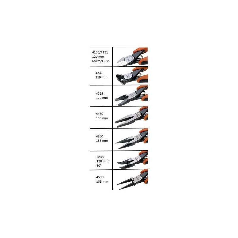 Juego de Alicates y Cortantes Ergo para Mecánica de Precisión 8 Piezas Bahco 9733
