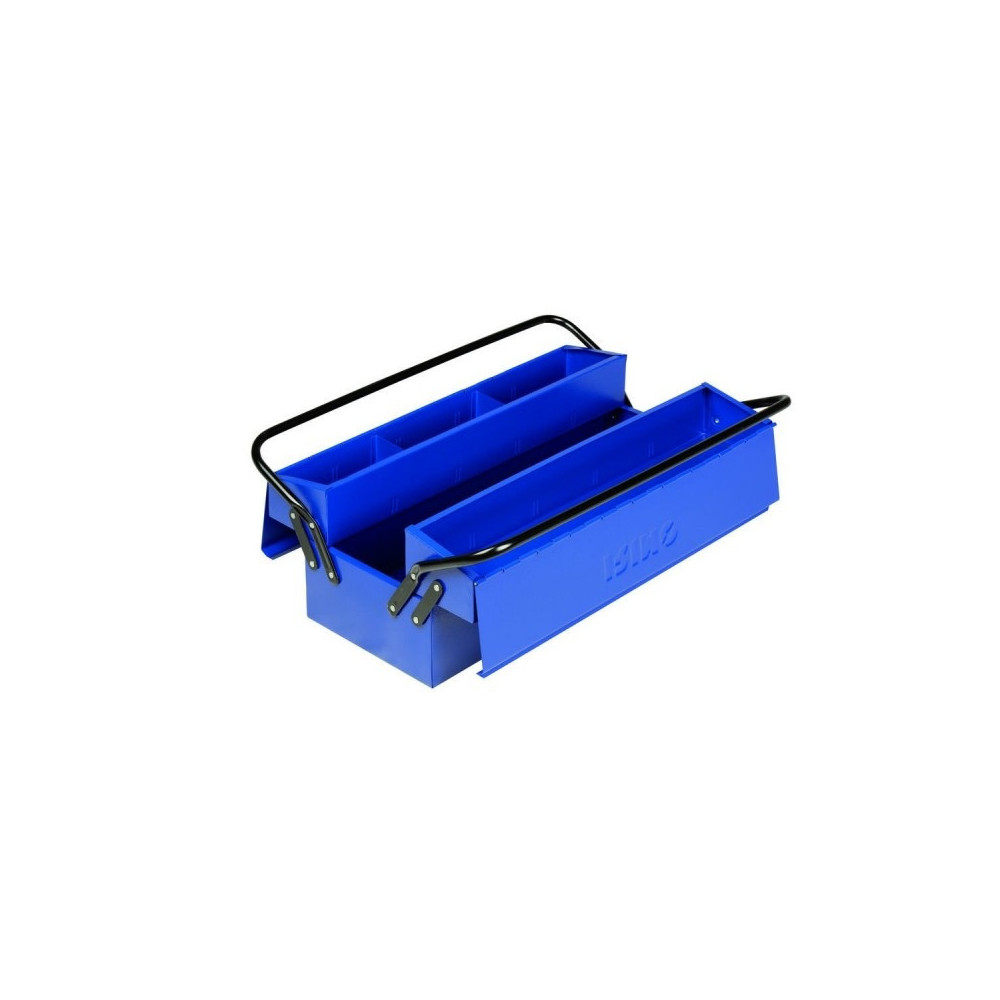 Caja de herramientas Metalica con Asas y 5 Compartimientos 500x210x245mm Irimo 902131