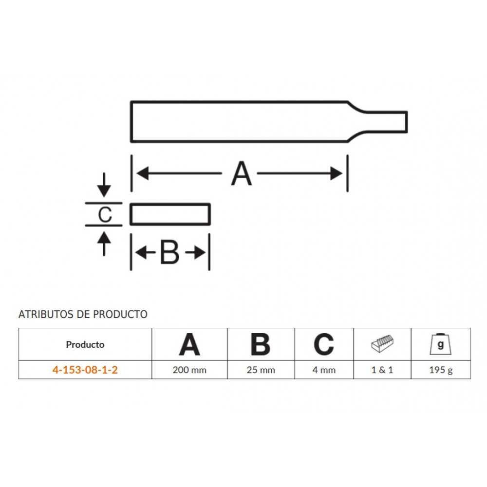 Lima Planade bricolaje ERGO™ 2 en 1 para metal 200 mm Bahco 4-153-08-1-2