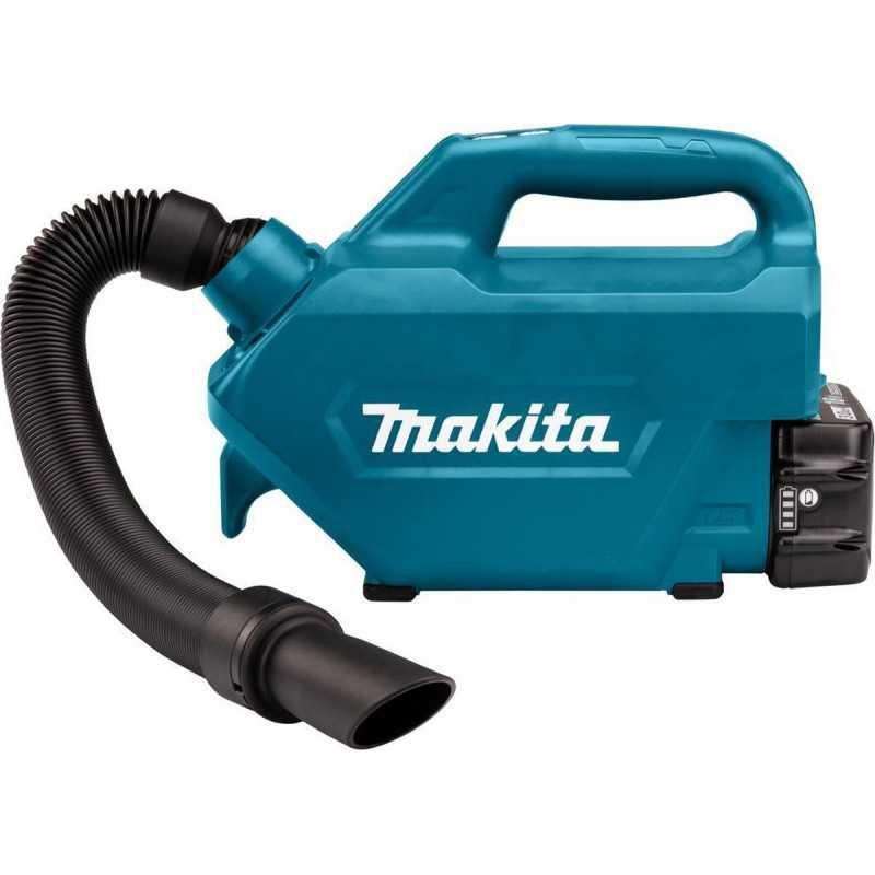Aspiradora para Auto Inalambrica 18V + Batería 3Ah BL1830B + Cargador Makita DCL184RF