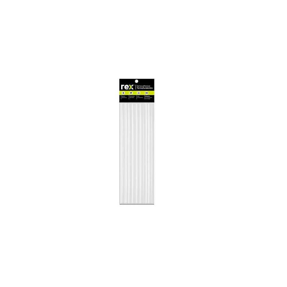 Barras de silicona Hot Melt B. 1,2 cm x 30 cm, Bolsa 4 u. Rex 30279