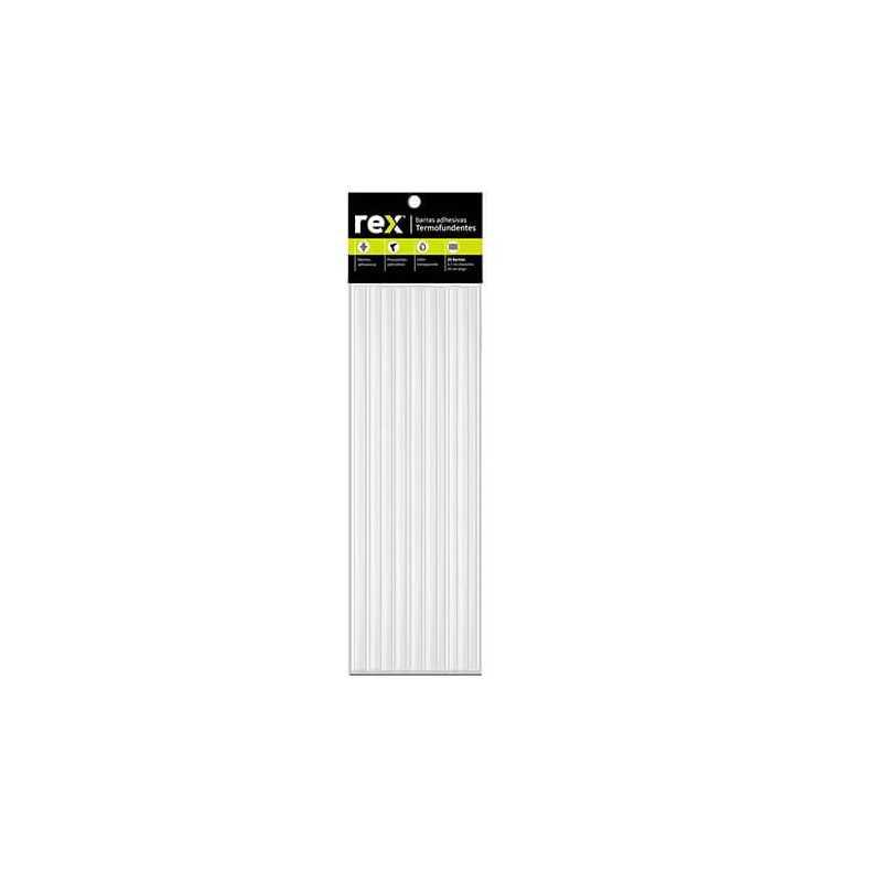 Barras de silicona Rex Hot Melt B. 0,7 cm x 30 cm, Bolsa 20 u. Rex 30277
