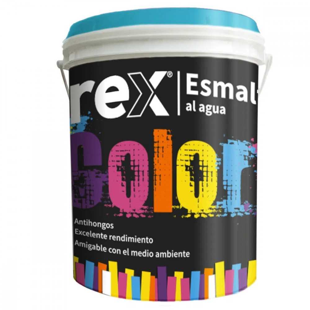Pintura Esmalte al Agua Blanco, 1 Gl Rex 60130
