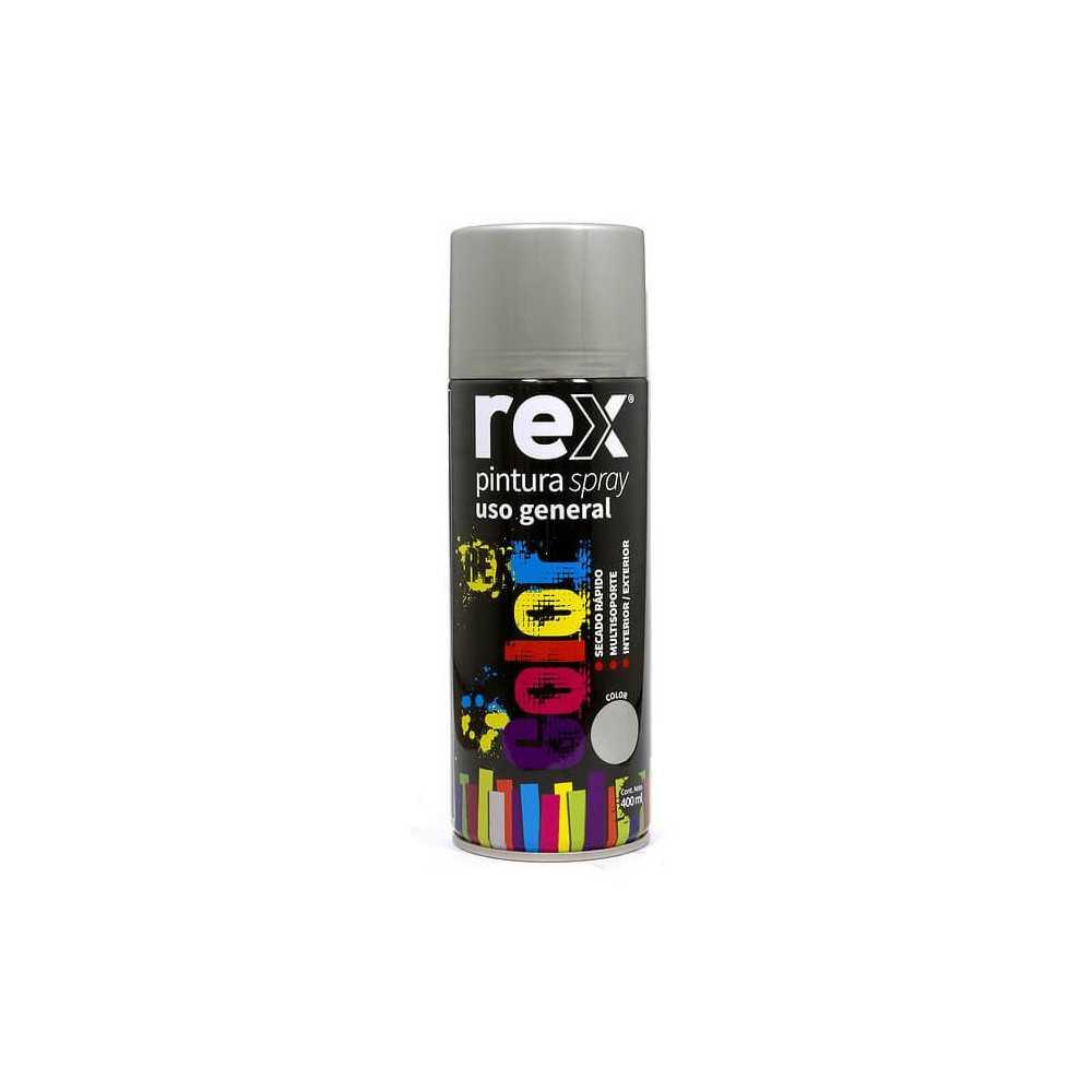 Pintura Spray uso General Aluminio 400 ml Rex 60001