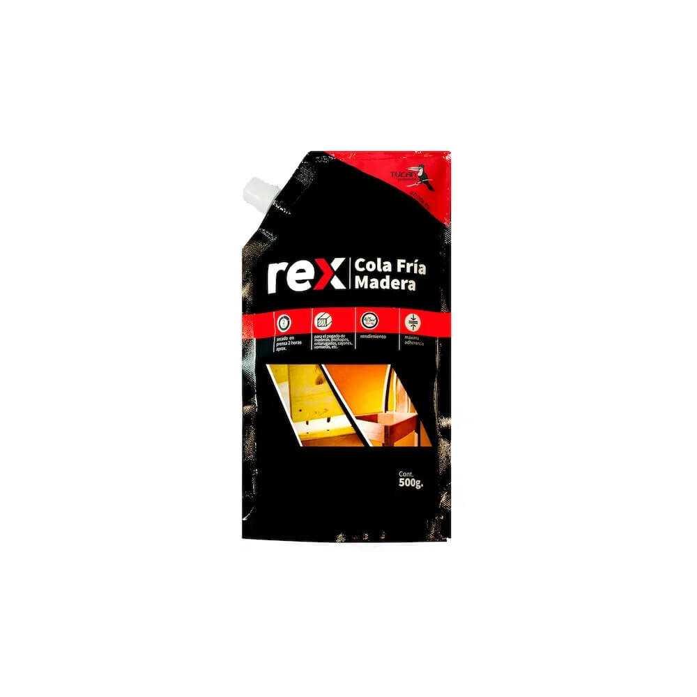 Cola Fría Madera, Doy Pack 500 gr Rex 30309