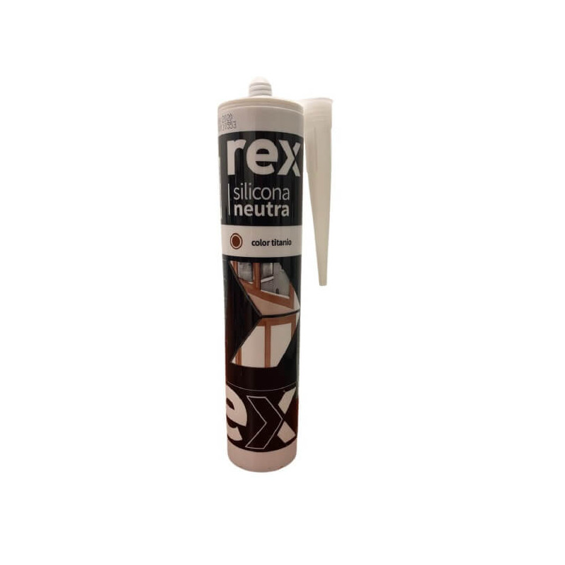 Silicona Neutra Titanio, Cartucho 300 ml Rex 30429