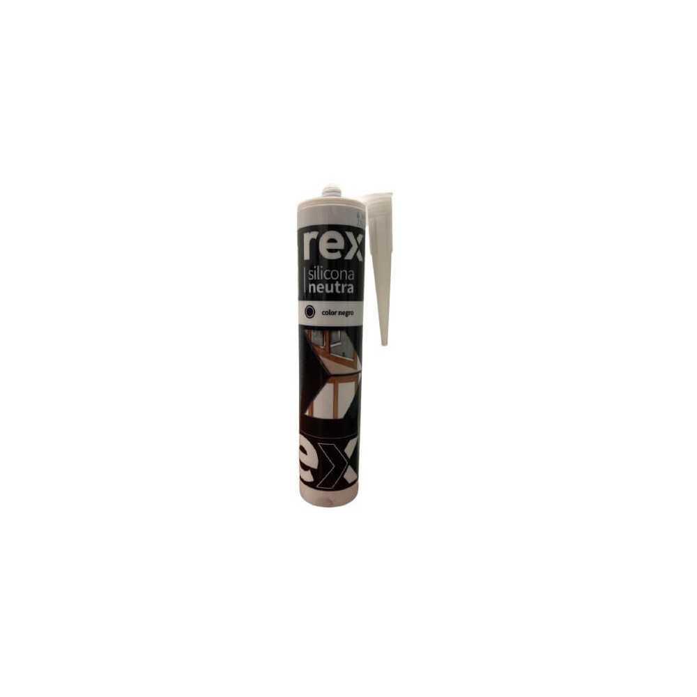 Silicona Neutra Negro, Cartucho 300 ml Rex 30420