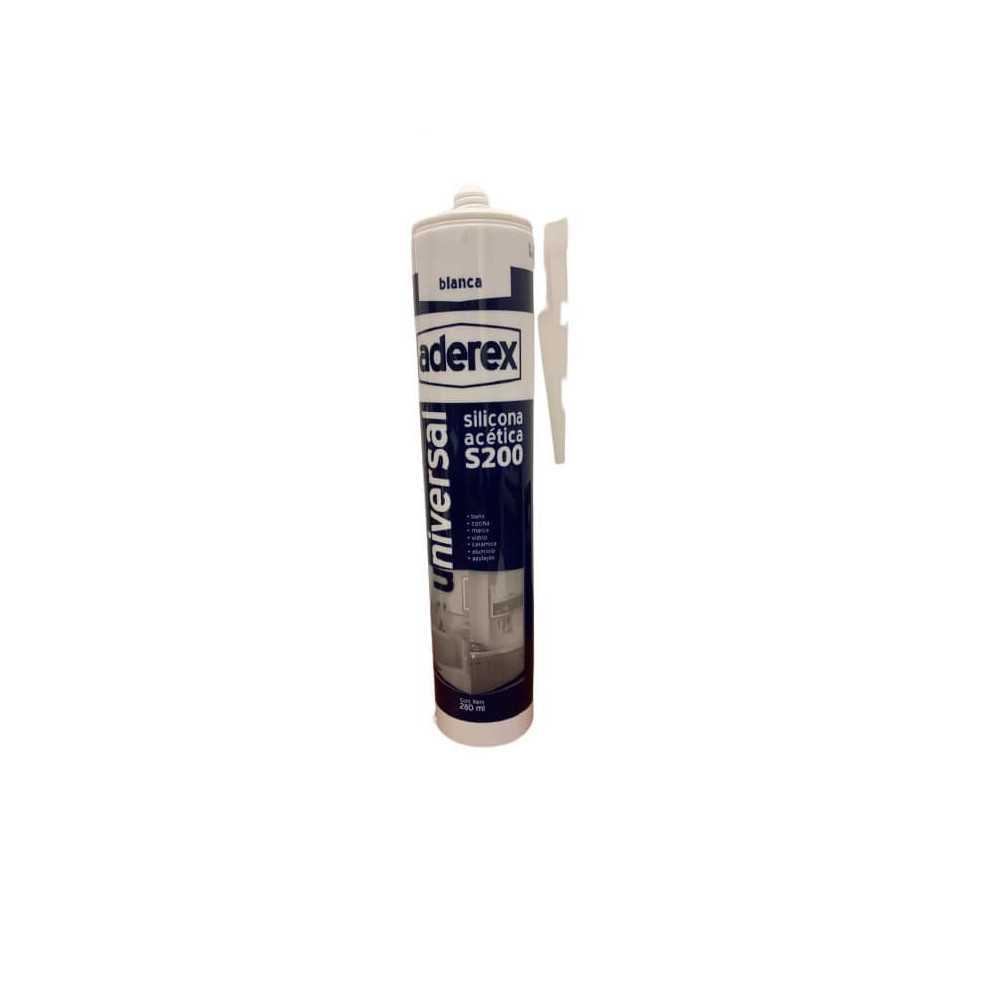 Silicona acética Transparente 280 ml Aderex 80001