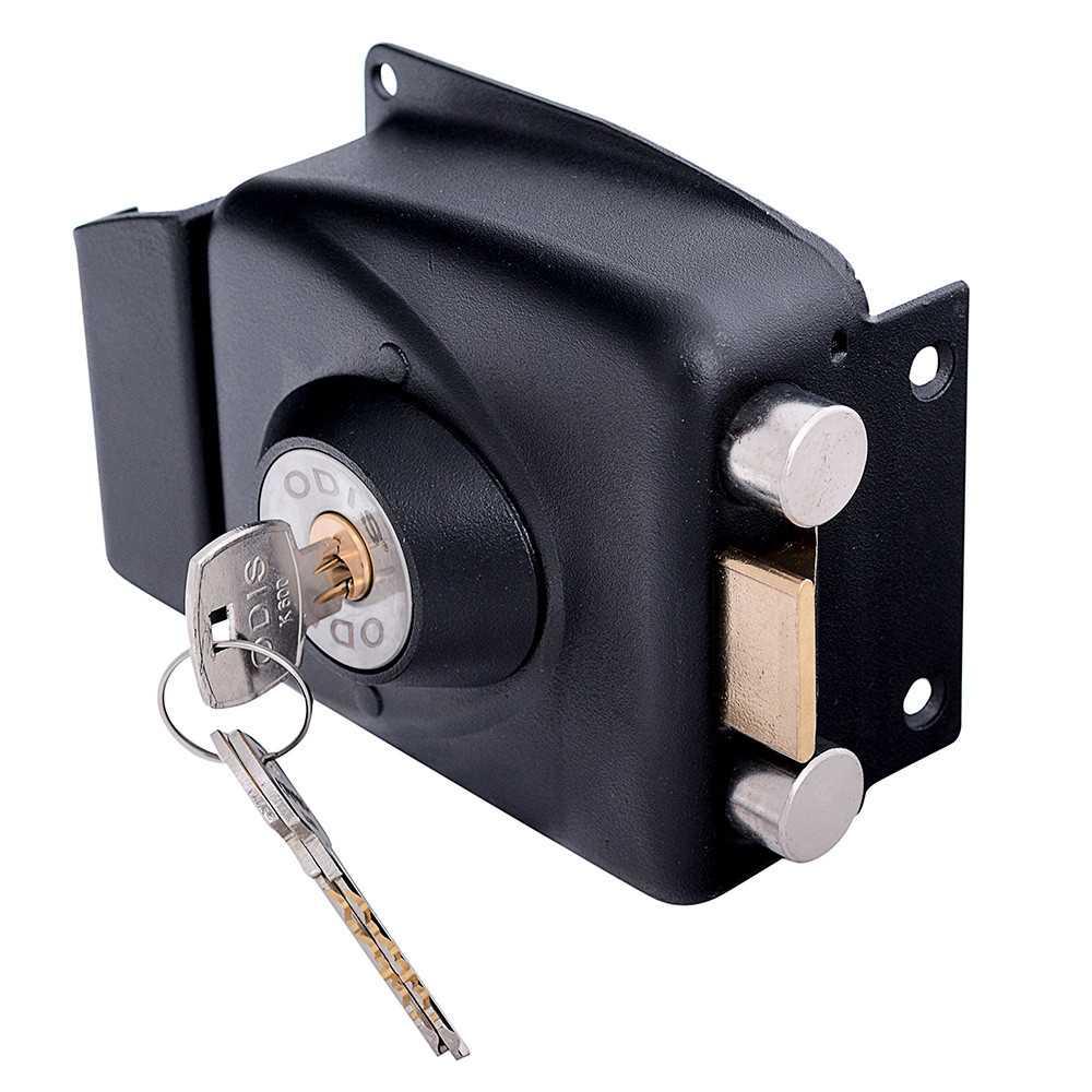 Cerradura Sobreponer Negra 773 con caja metálica Odis CEP0000923