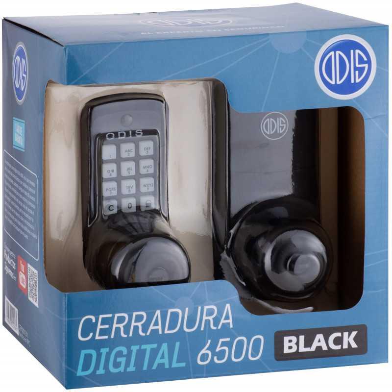 Cerradura Digital con Pomo 6500 Negra Odis CEP0001311