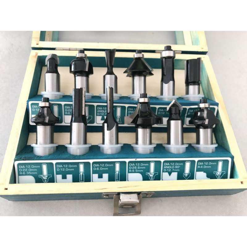 Set Fresas 12mm 12pzs Total Tools TACSR2121