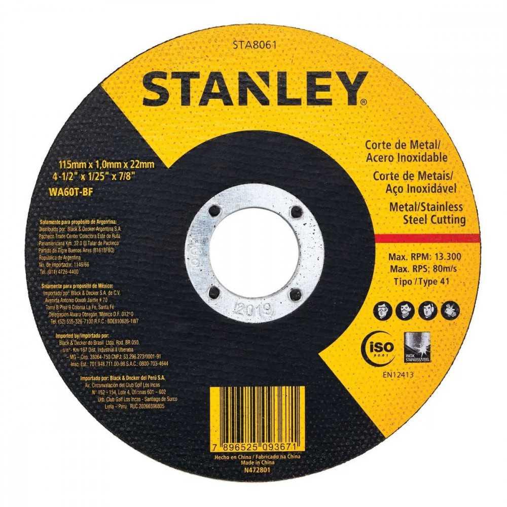 Esmeril Angular 4-1/2'' 600w + Disco Corte Metal Stanley STGS6115-STA8061B