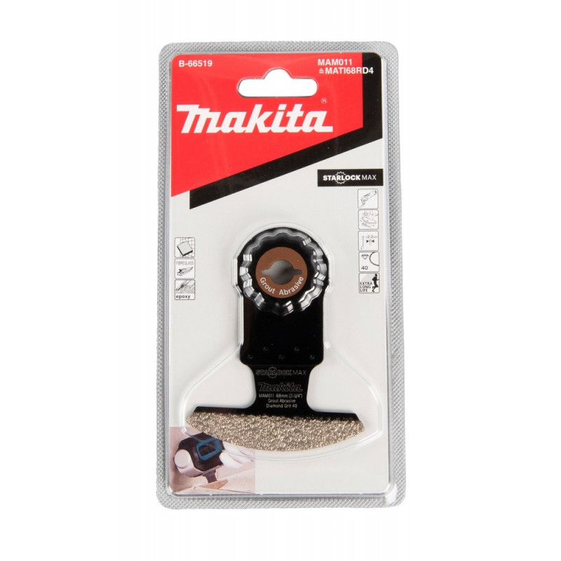 Sierra diamantada segmentada 68mm x 30mm Starlock Max MAM011 Makita B-66519