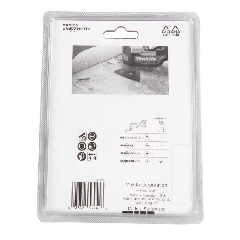 Placa de lijado grano 20 116mm Starlock Max MAM015 Makita B-66553