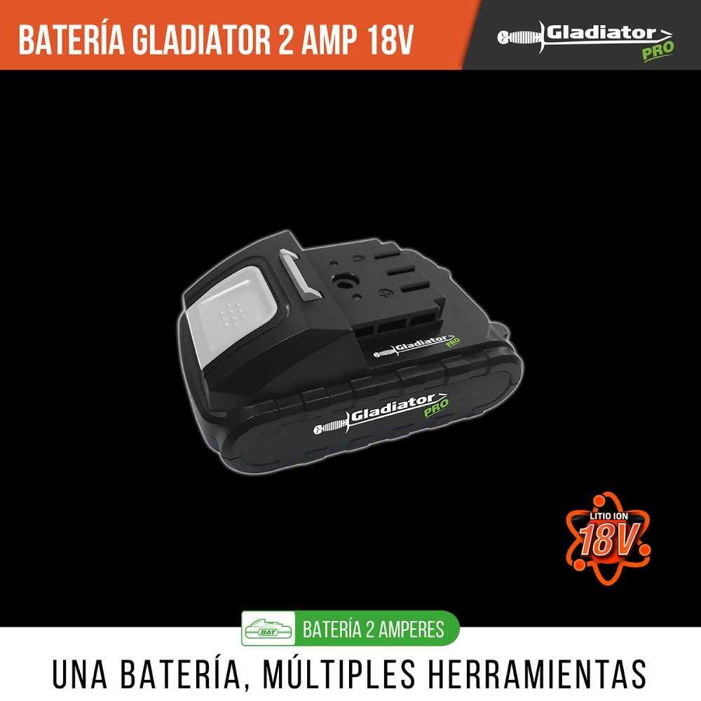 Batería 18V 2 amperes BAT 818-2 Gladiator MI-GLA-053550