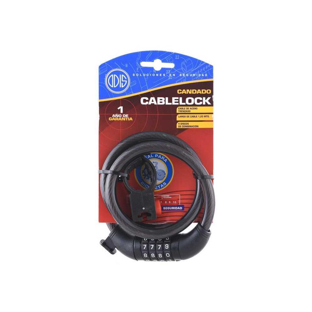 Candado Cablelock 120 120cms Negro Odis CAN0000108