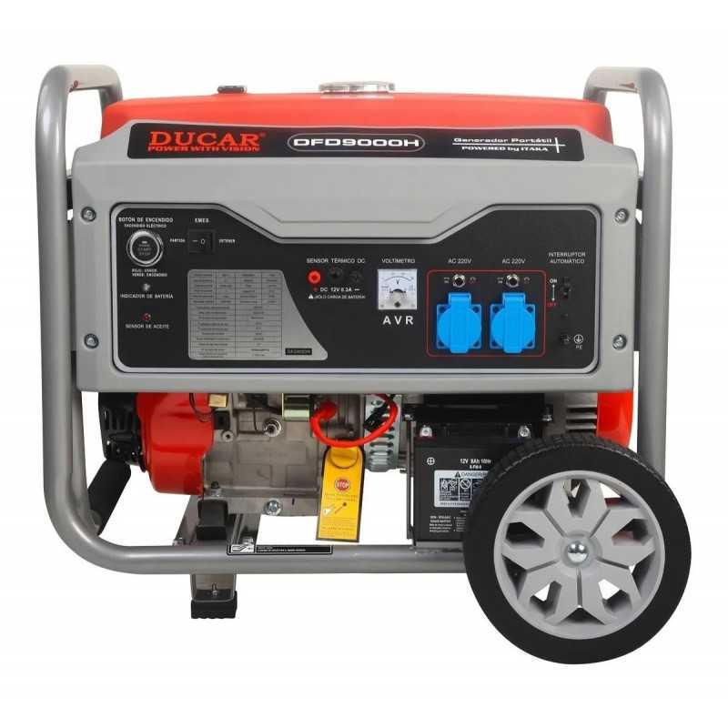 Generador Eléctrico Bencinero 6.800W Ducar DFD9000H