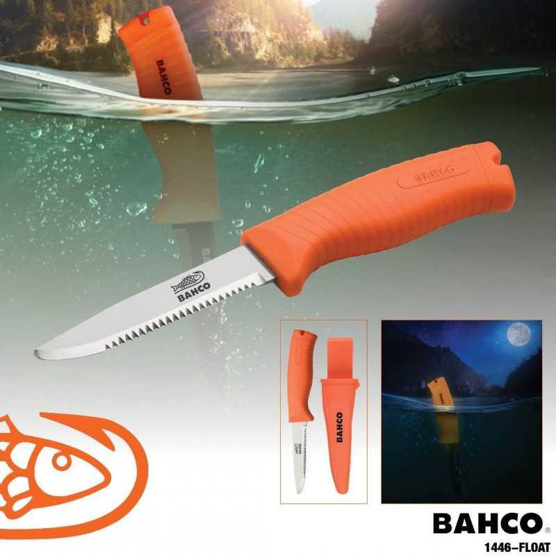 Cuchillo de Rescate flotante con mango fluorescente Bahco 1446-FLOAT