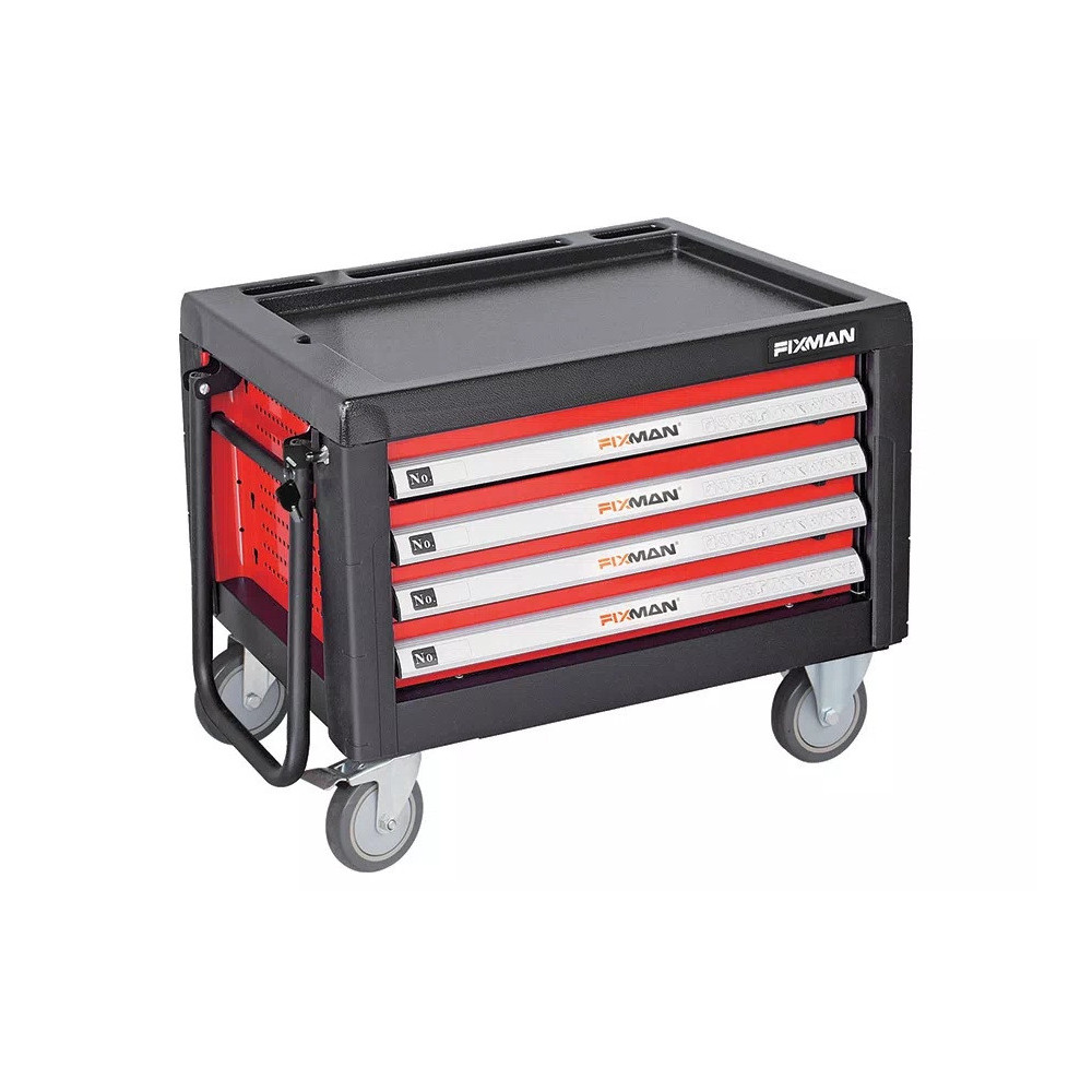 Carro Porta herramientas 4 cajones 690X465X575MM Fixman C1RP4
