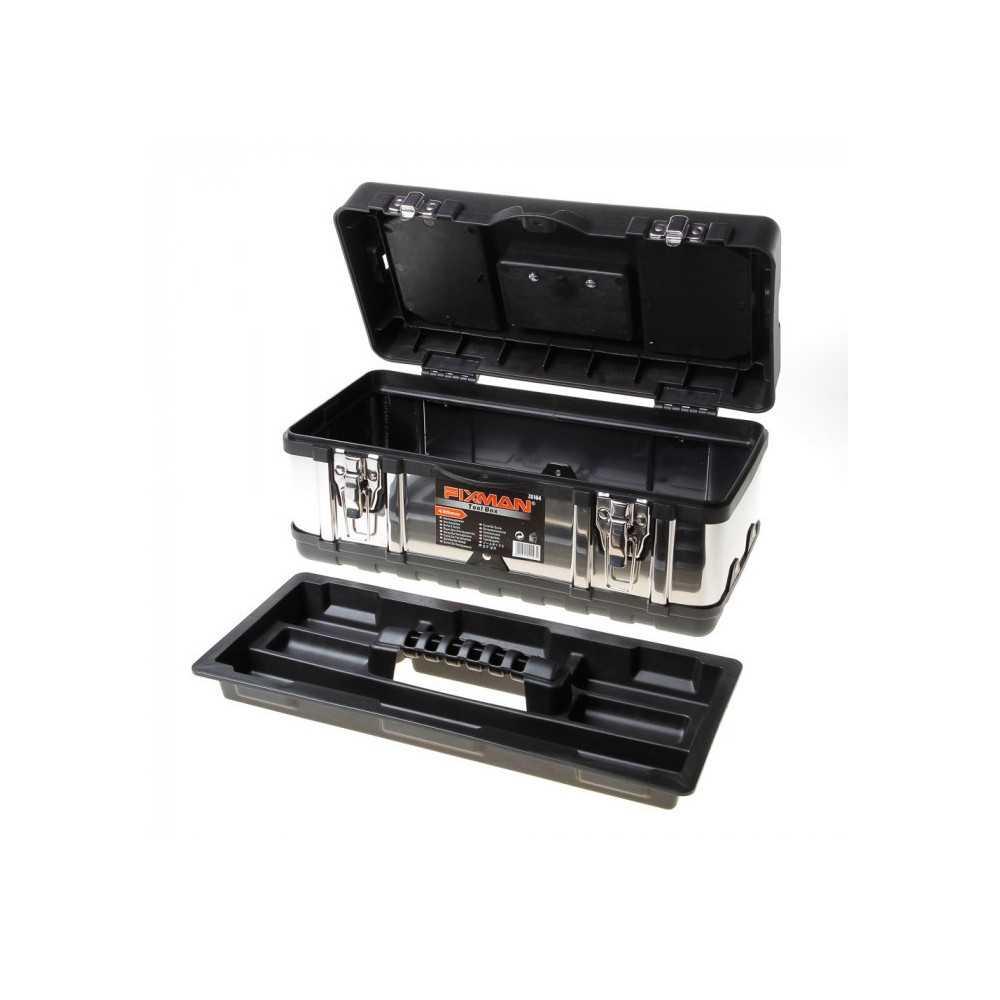 "Caja de herramientas Metálica 16"" Fixman Z0104"