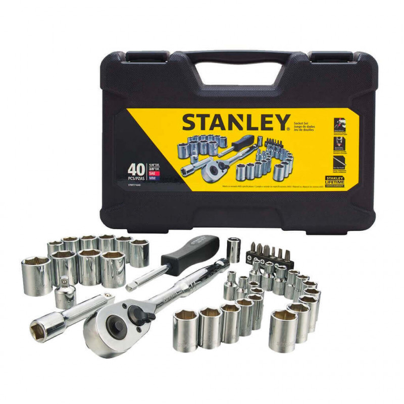 Set Herramientas Mecánicas Pro 40 Piezas Stanley STMT71648