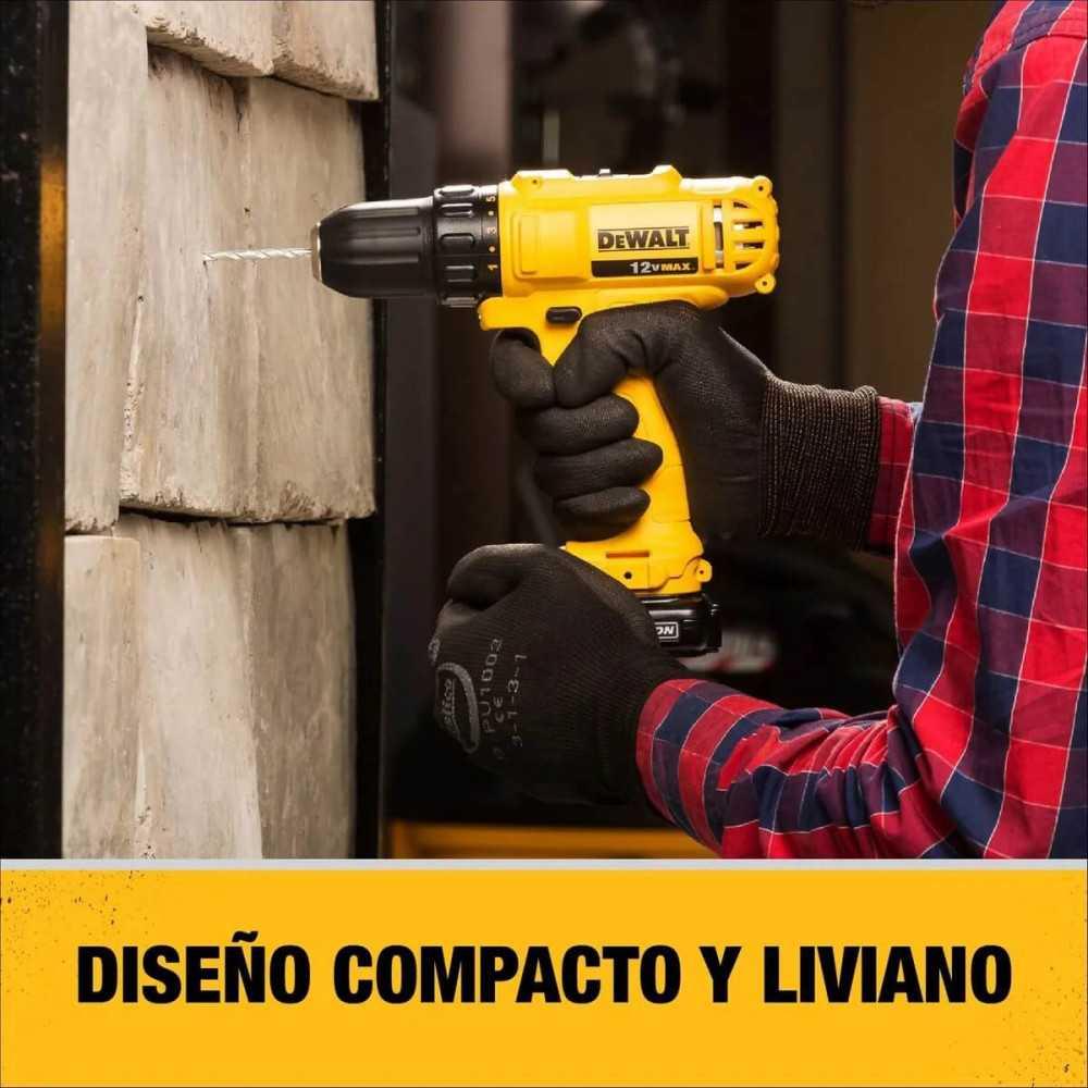 """Taladro Atornillador Inalámbrico 3/8"""" (10mm) 12v + 1 Batería + Cargador DeWalt DCD700LC1-B2"""