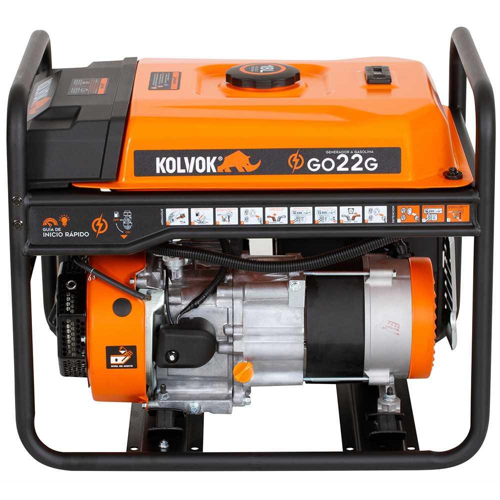 Generador Eléctrico a Gasolina 2200 W Monofásico GO22G Kolvok 103011672