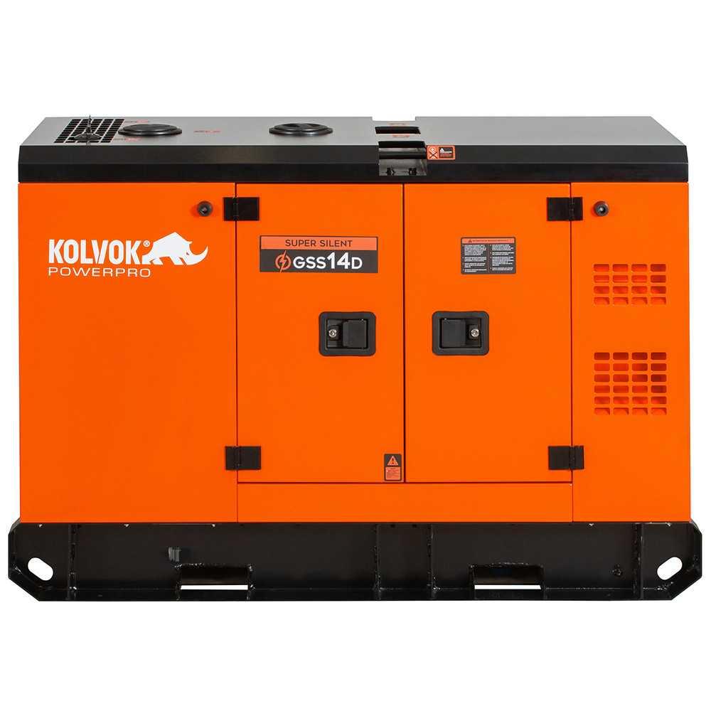 Generador Eléctrico Diesel Insonorizado Monofásico 12.000W GSS14D Kolvok 305011009