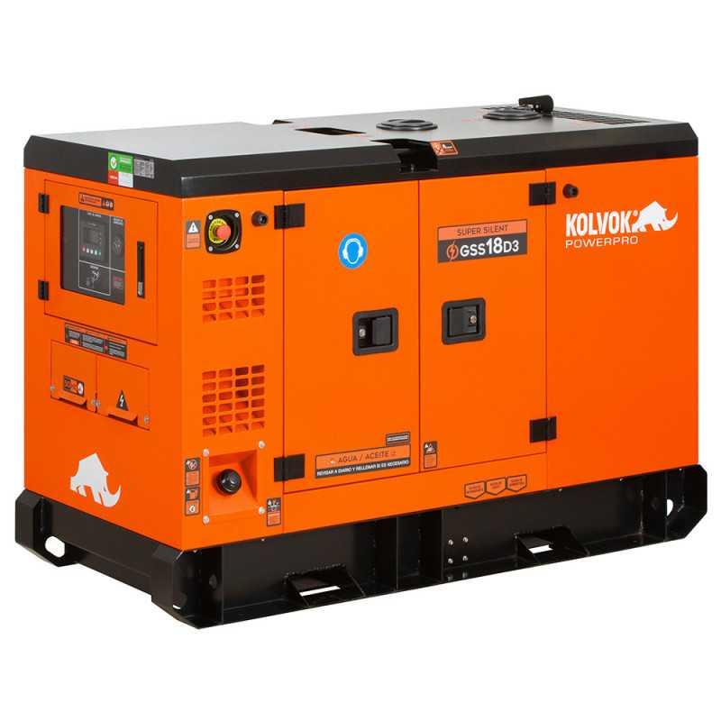 Generador Eléctrico Diesel Insonorizado Trifásico 14.000W GSS18D3 Kolvok 305011011
